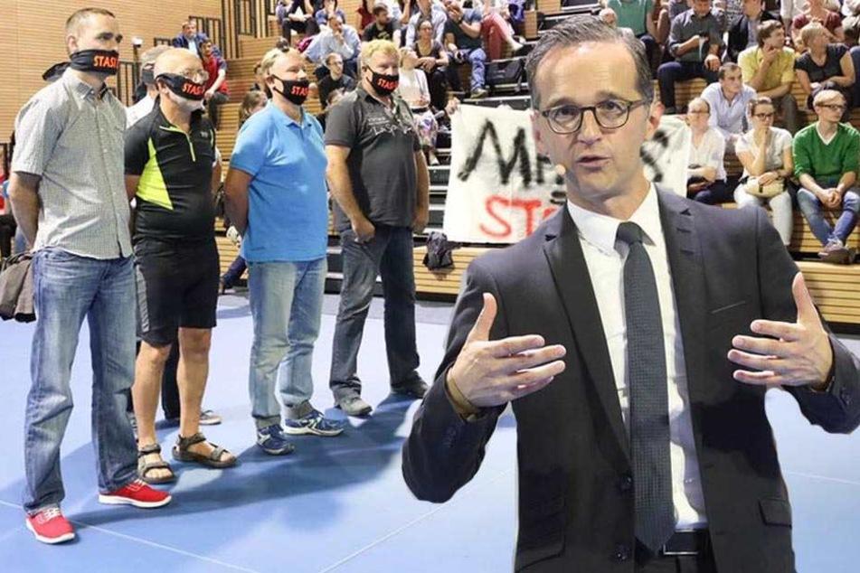 Heiko Maas in Dresden! So liefen Proteste und die Veranstaltung