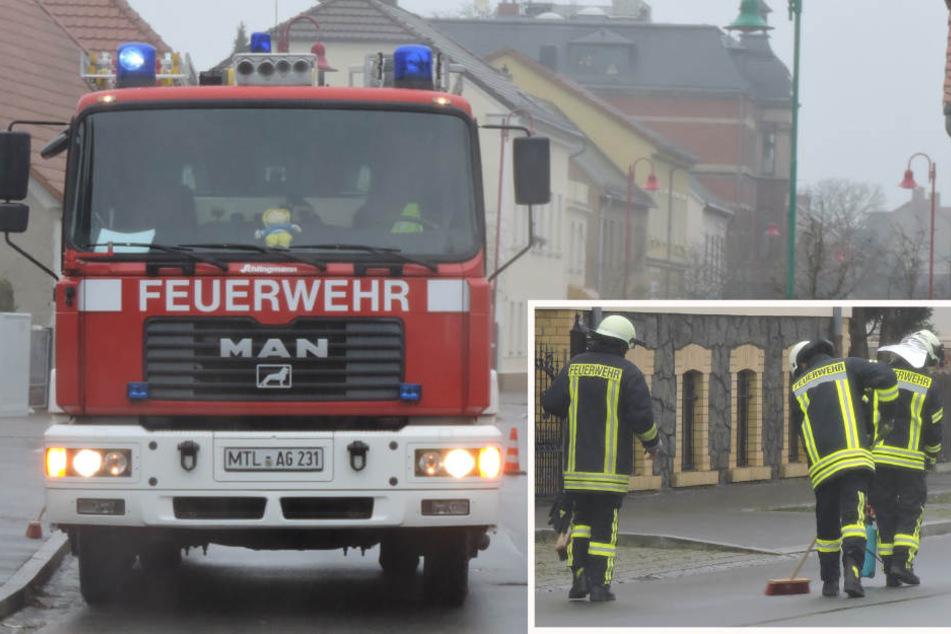 Feuerwehr-Großeinsatz: Kilometerlange Ölspur durch sieben sächsische Orte