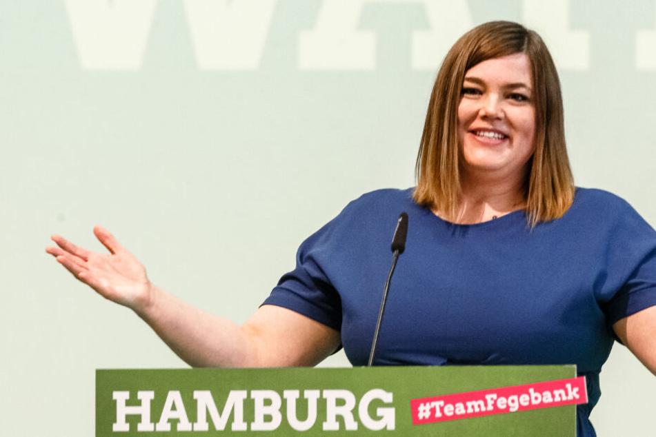 Hat angesichts der Umfragewerte gut lachen: Katharina Fegebank von den Grünen könnte die nächste Bürgermeisterin in Hamburg werden.