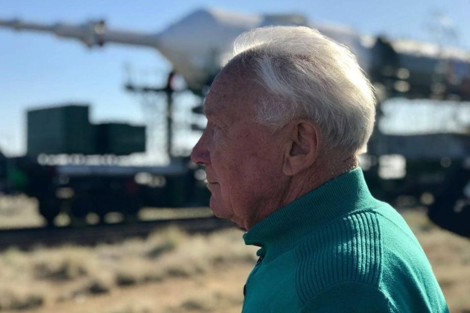 Ein Blick zurück: Vor zwei Monaten besuchte Sigmund Jähn noch einmal das Startgelände in Baikonur (Kasachstan).