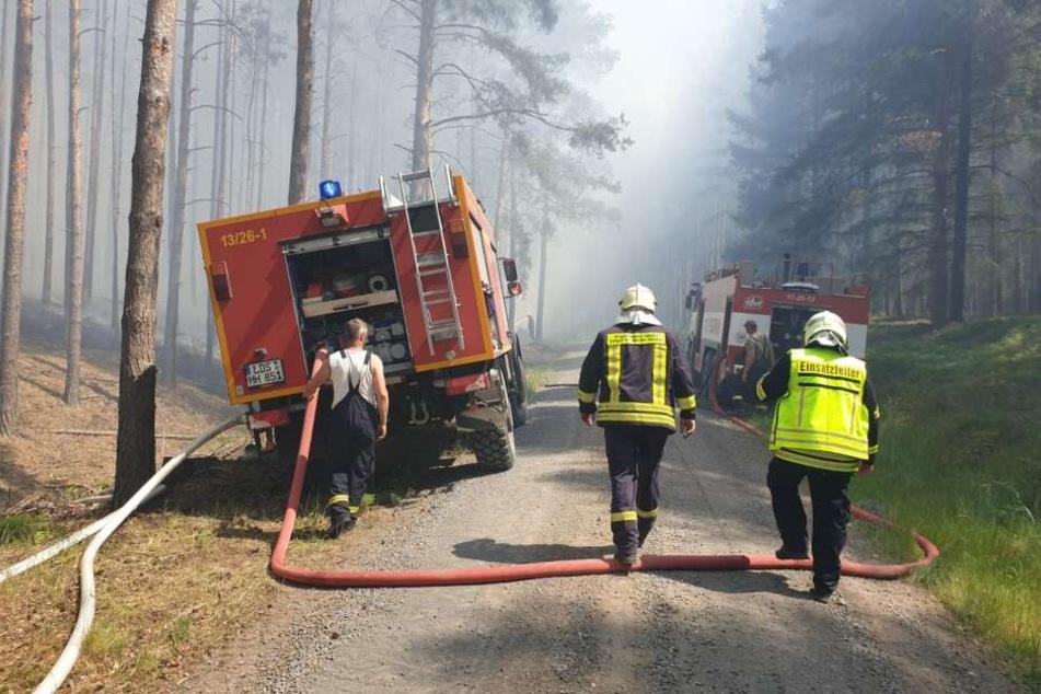 50 Kameraden der Feuerwehr bekämpfen den Brand.