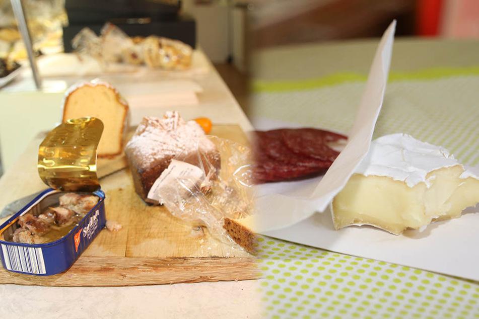 Sandkuchen, Ölsardinen, Wurst und Käse ließ sich der Einbrecher schmecken.
