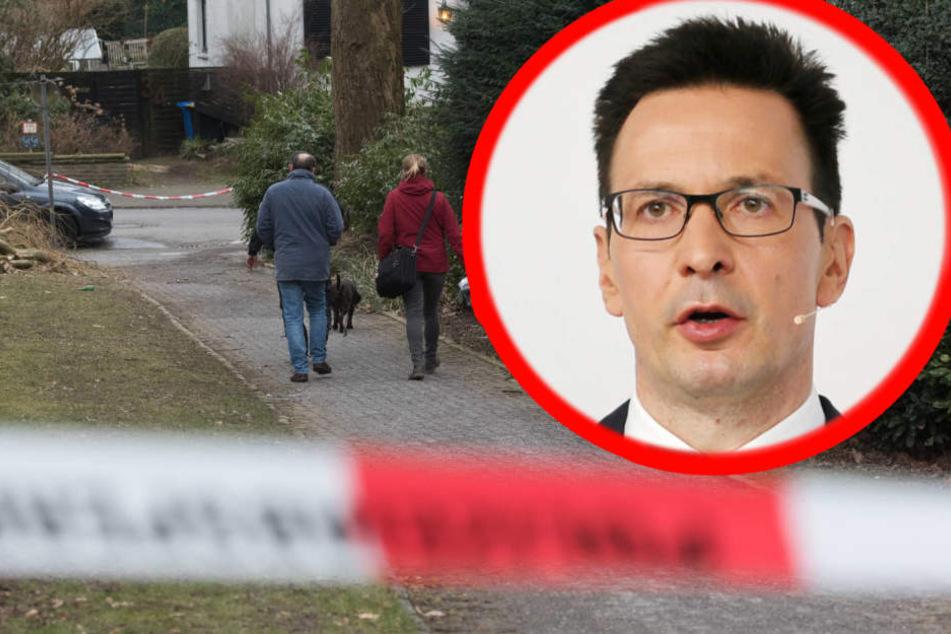Der Tatort des Säure-Attentats auf Bernhard Günther.