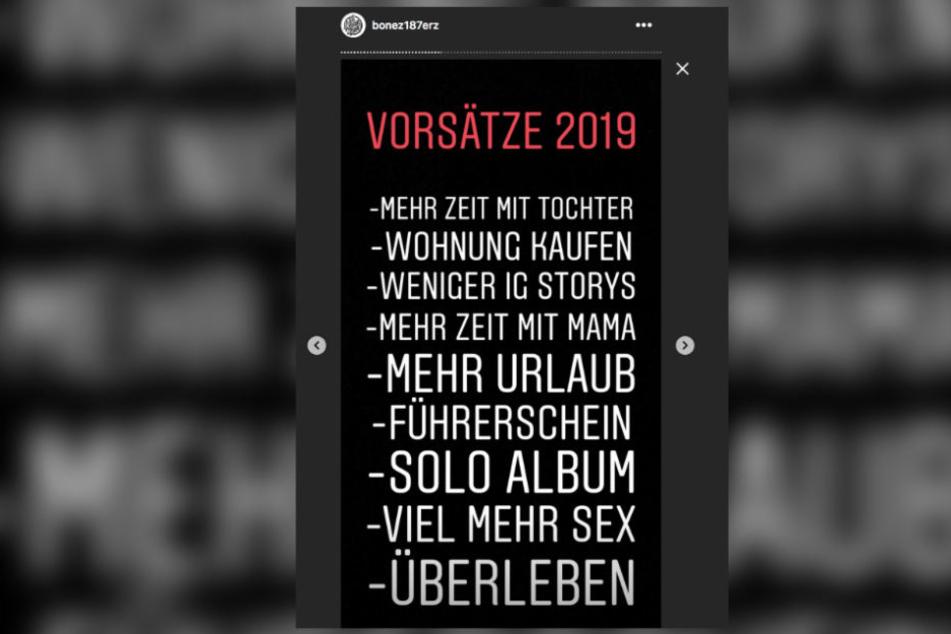 Bonez MC hat sich für 2019 so einiges vorgenommen.