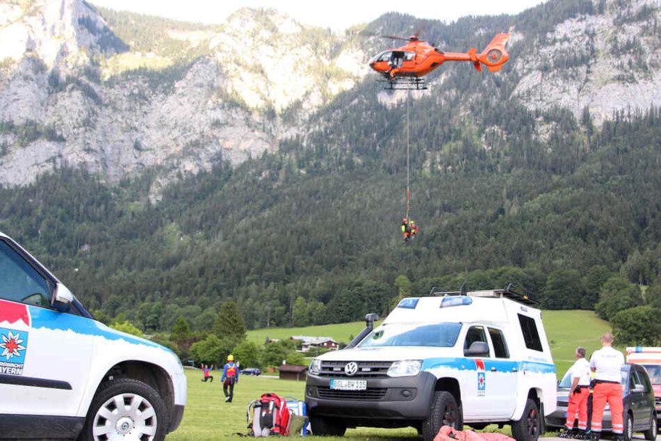 Mit dem Hubschrauber konnte die Wanderin ins Tal geflogen werden.