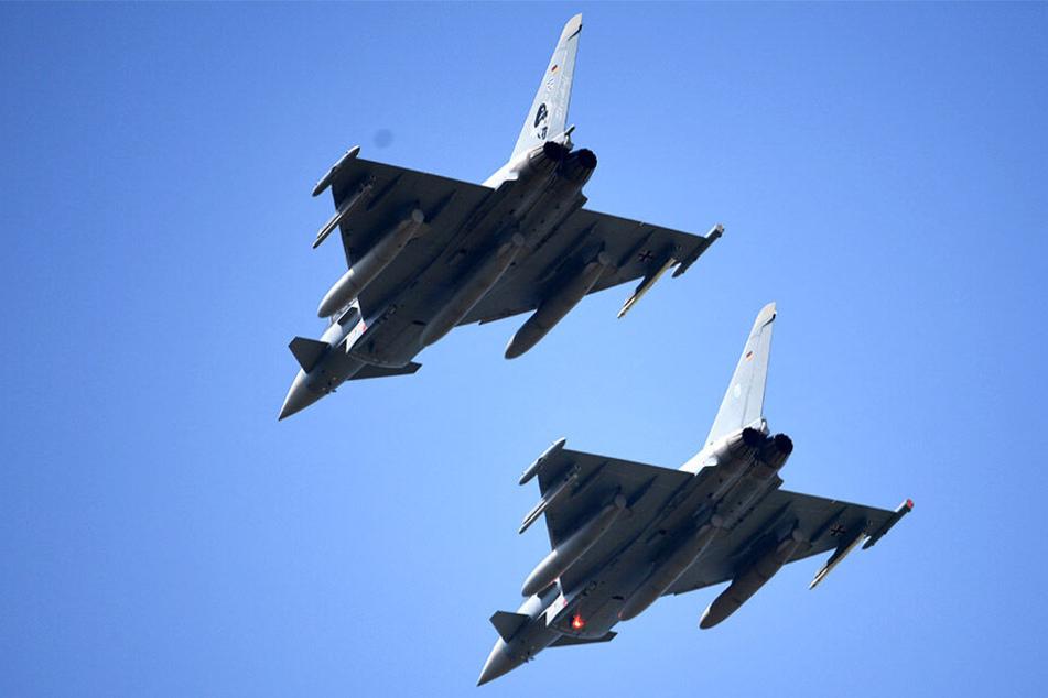 Zwei Eurofighter sind über der Müritzregion abgestürzt. (Symbolbild)