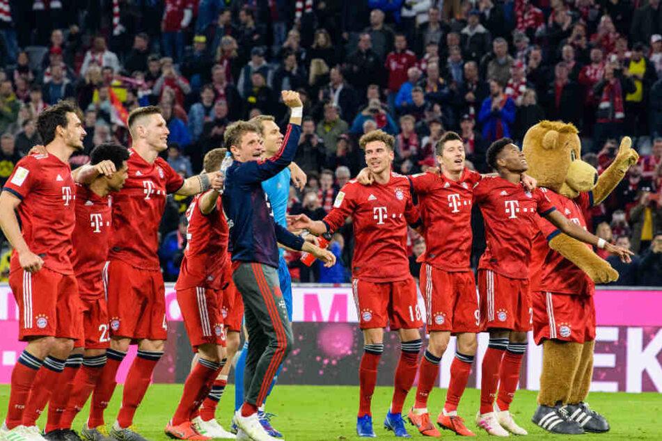 Der FC Bayern hatte nach dem dominanten Sieg gegen Borussia Dortmund allen Grund zu feiern.