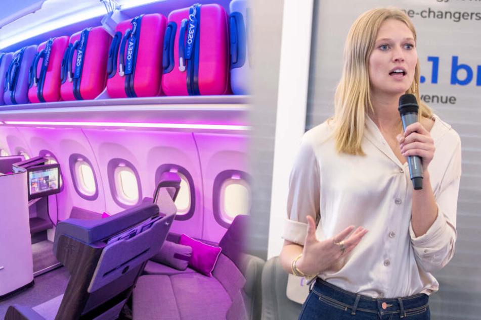 Topmodel Toni Garrn und Airbus zeigen die Zukunft des Fliegens