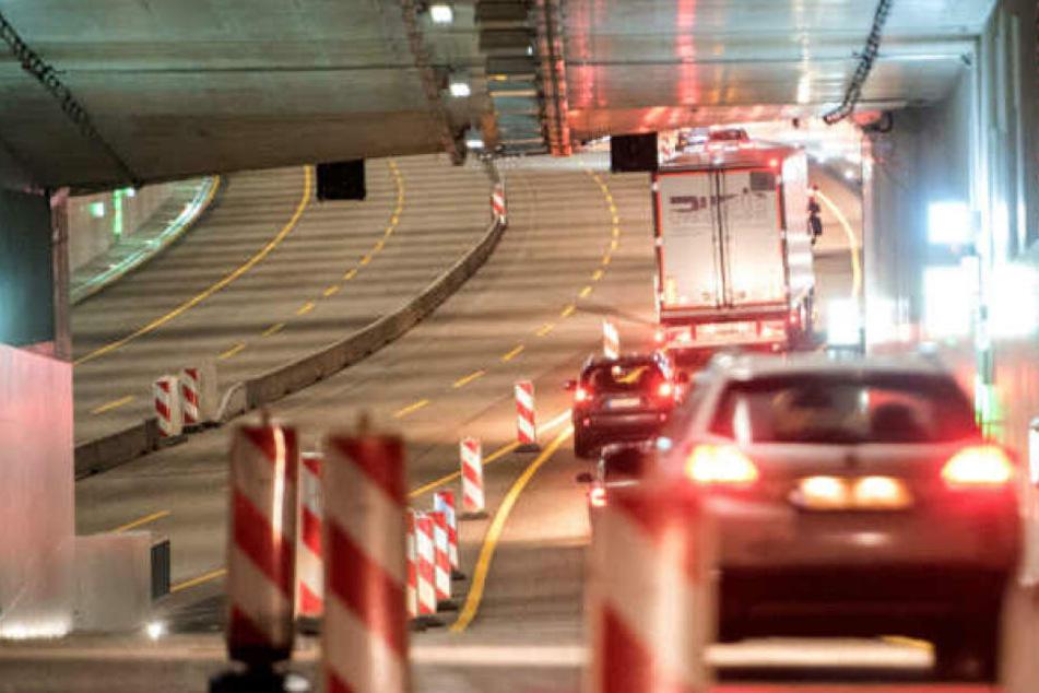 Seit Dezember wurde der Tunnel bereits teilweise genutzt.