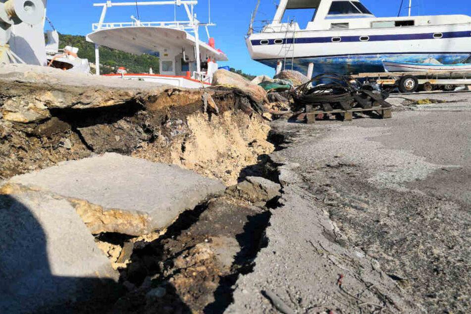 Immer wieder erschüttern Erdbeben Griechenland. Zuletzt gab es im Oktober 2018 ein heftiges Seebeben von der Insel Zakynthos.