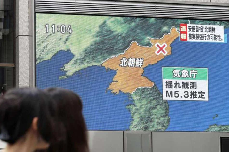 Es wäre der insgesamt fünfte Atomtest Nordkoreas zwischen 2006 und 2016.