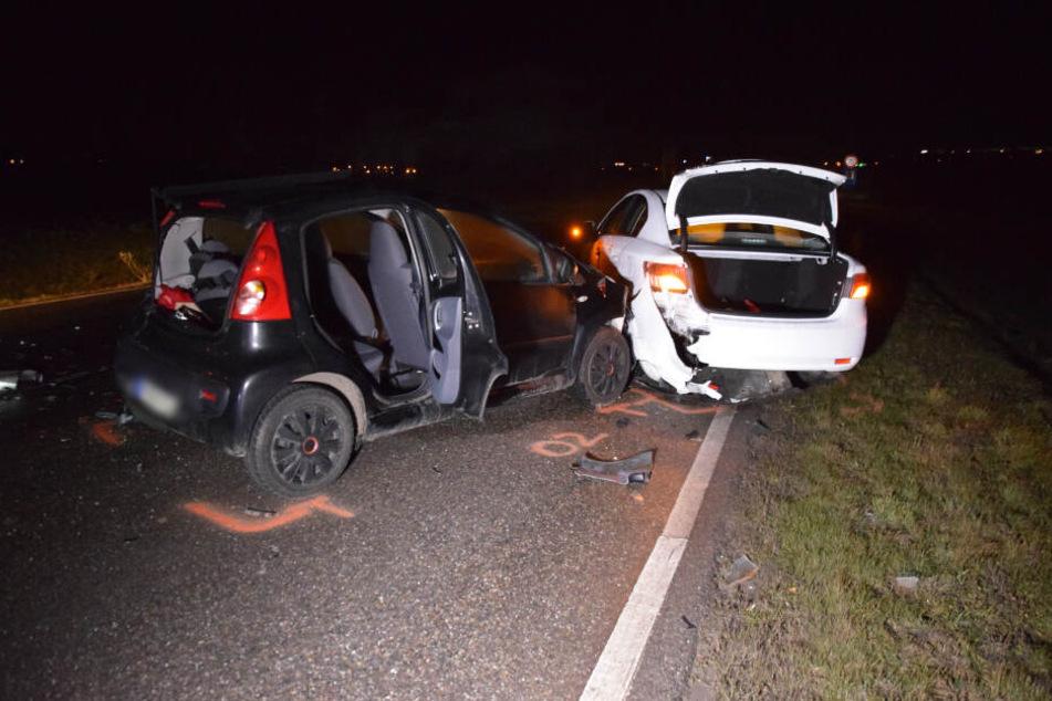 Unterlegkeil auf Bundesstraße: Fünf Verletzte bei Unfall