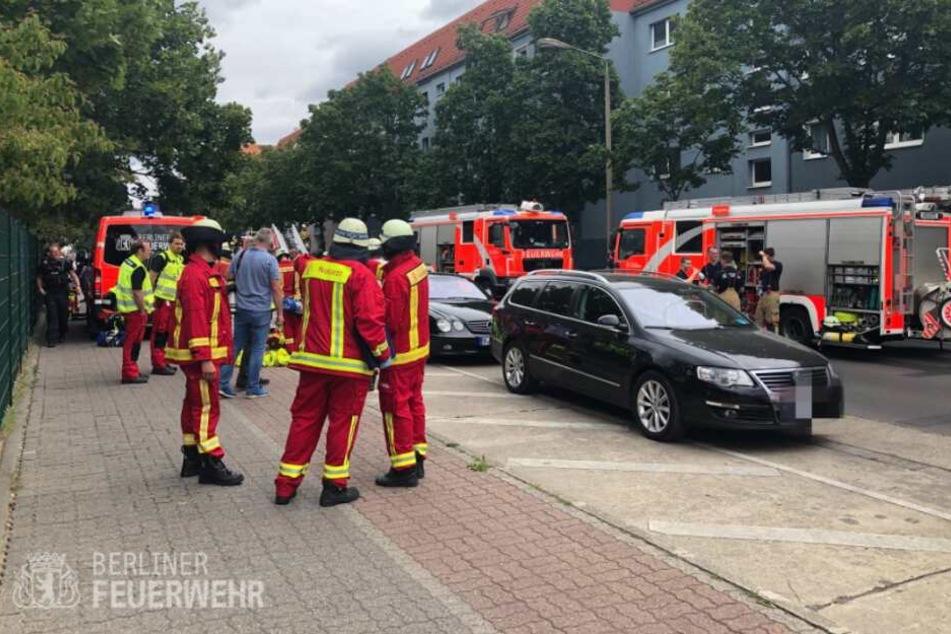 In Köpenick ist am Freitag ein großer Wohnungsbrand ausgebrochen.