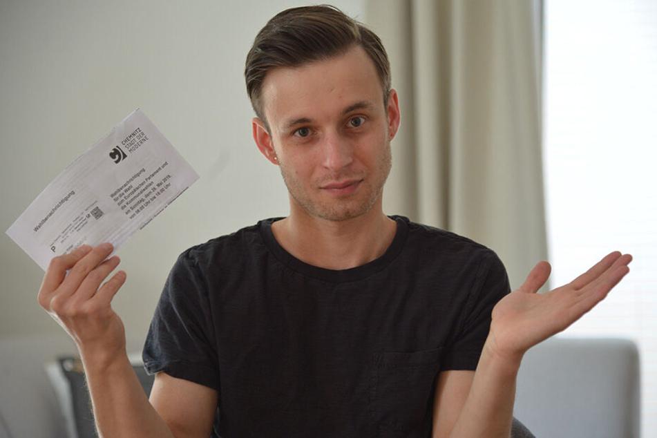 Felix Ritter (31) aus Siegmar hat seine Briefwahlunterlagen nicht bekommen.
