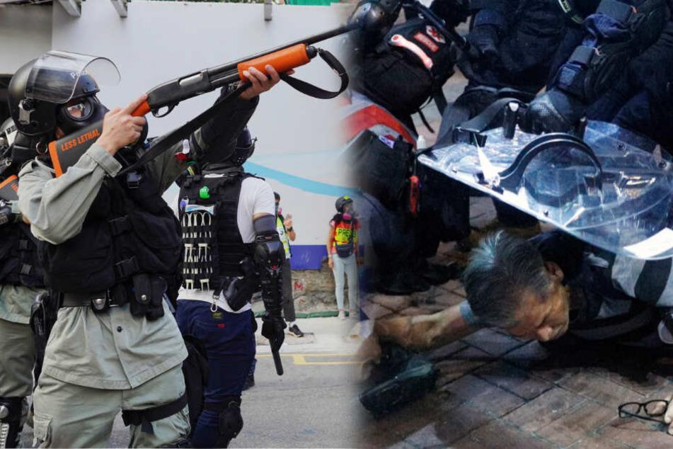 Schlimme Szenen in Hongkong: Demonstrant von Polizei angeschossen
