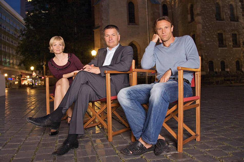 """Das Team der """"Sachsenklinik"""": Andrea Kathrin Loewig (51), Thomas Rühmann (63) und Bernhard Bettermann (53)."""