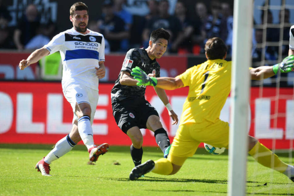 Yi-Young Park schoss in der 39. Minute das 1:0 für den FC St. Pauli.