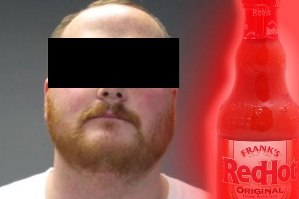 Der 31-jährige Vater soll seiner Tochter scharfe Sauce in die Augen gerieben haben.