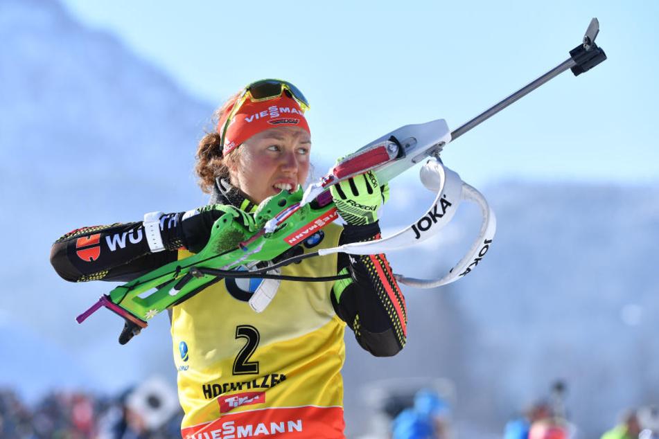 Auch Deutschlands Spitzenbiathletin Laura Dahlmeier freut sich über die Vergabe der WM nach Oberhof.