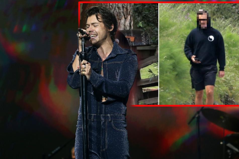 Harry Styles und sein Mundschutz: Netz lacht über Corona-Fail des Musikers