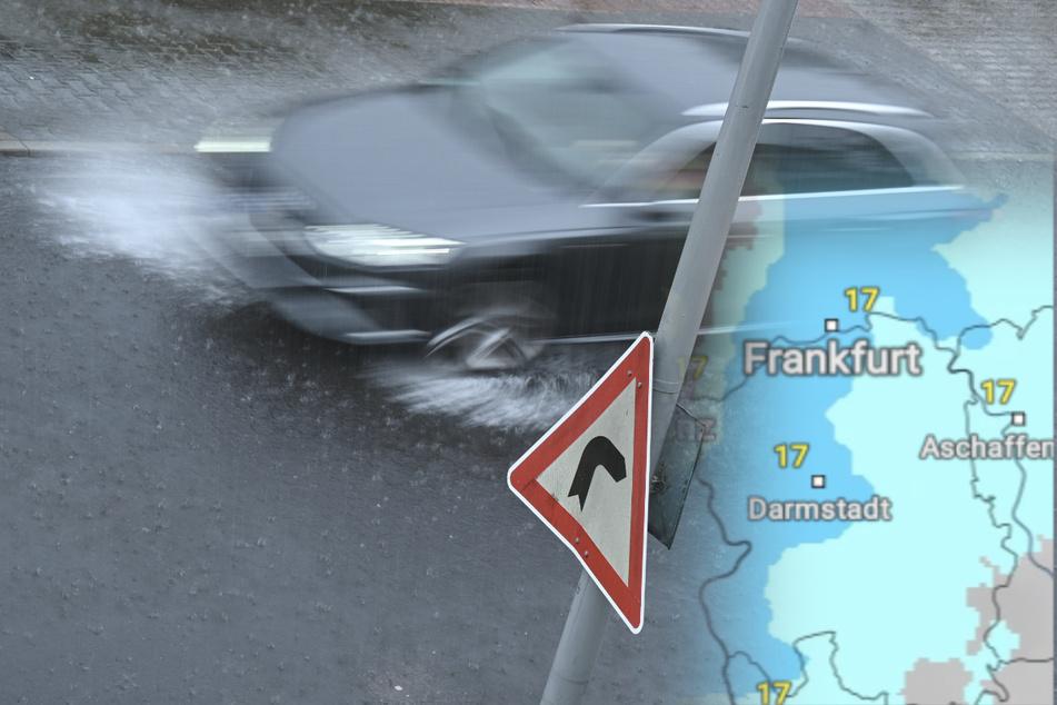 Am Dienstag und am Mittwoch ist in Hessen immer wieder mit Gewittern und Starkregen zu rechnen (Symbolbild).