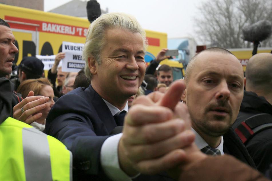 Geert Wilders (53) hofft, mit anti-islamischen Parolen punkten zu können.