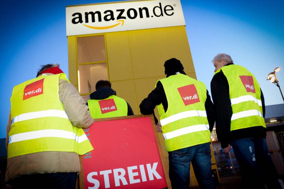 Erneut haben in Leipzig Amazon-Mitarbeiter ihre Arbeit niedergelegt.