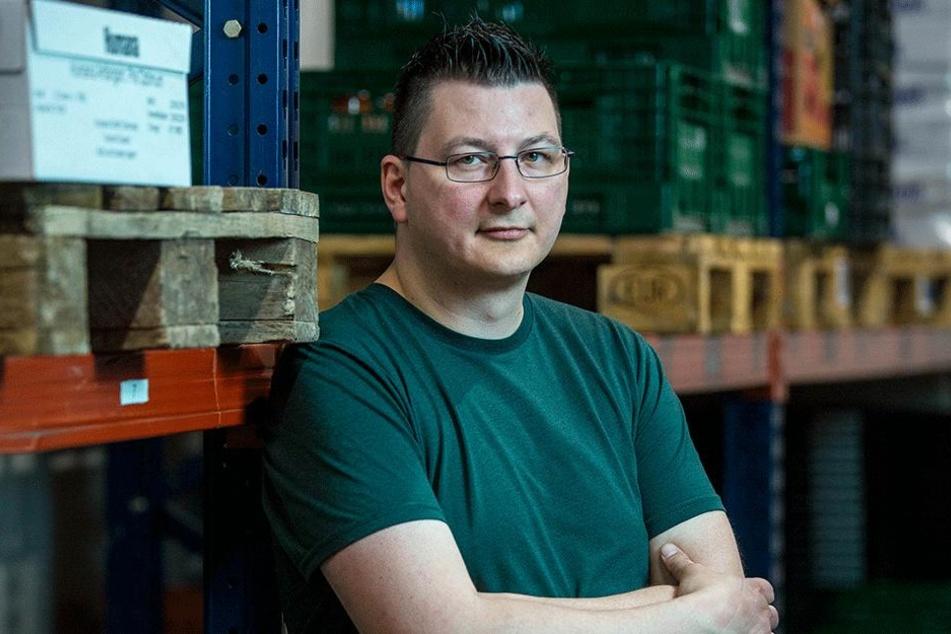 Andreas Schönherr (40), ist Vorsitzender der gemeinnützigen Dresdner Tafel.