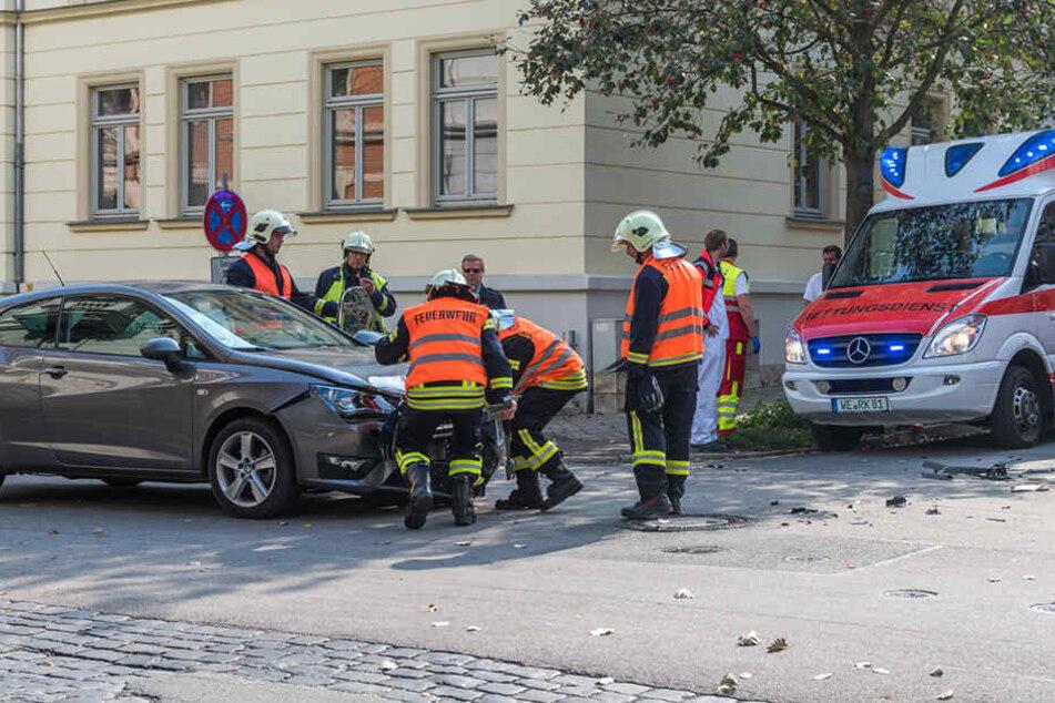 Die Fahrerin des Seat wurde schwer verletzt.