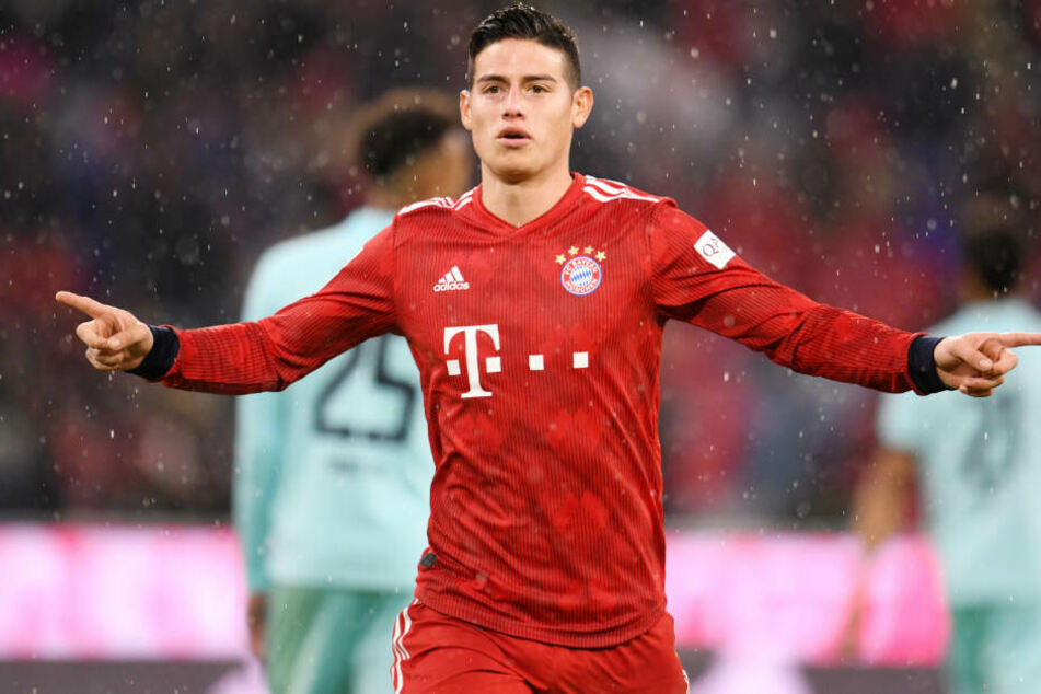James Rodríguez wird nicht mehr für den FC Bayern auf dem Rasen stehen.