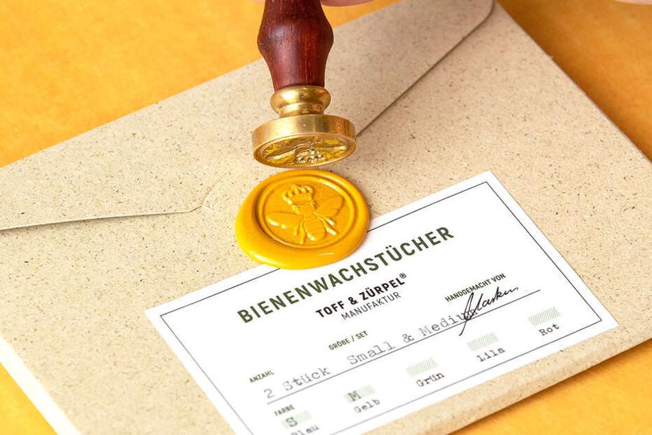 Mit Brief und Siegel: Die Wachstuchmacher bürgen für erstklassige Qualität.
