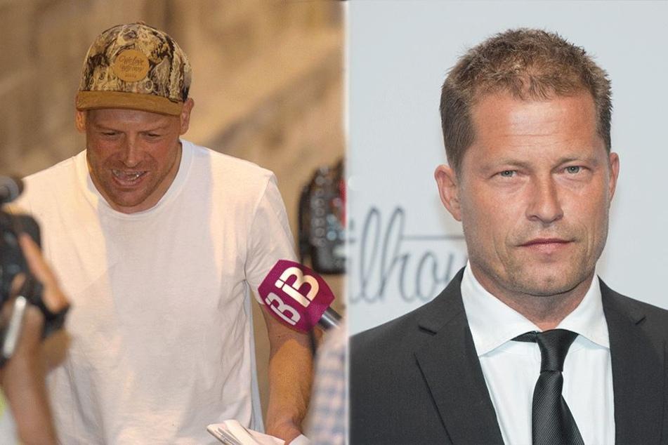 Jan Ullrich (44, l) und Til Schweiger (54).