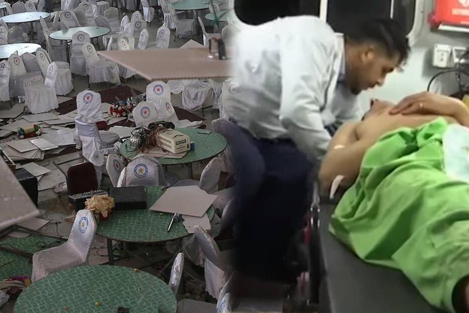 Mindestens 63 Tote nach Anschlag in Hochzeitshalle