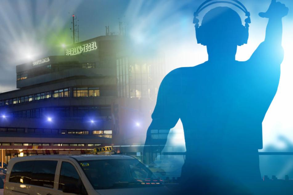 Wird am Flughafen Tegel nicht nur studiert und gearbeitet, sondern auch bis zum Morgengrauen getanzt und gefeiert? (Bildmontage)