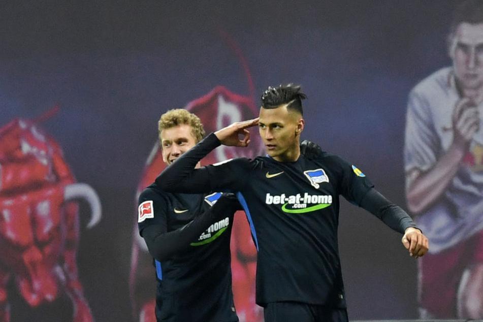 Davie Selke erzielte beim ersten Aufeinandertreffen nach seinem Wechsel nach Berlin im Hinspiel zwei Tore für die Hertha.