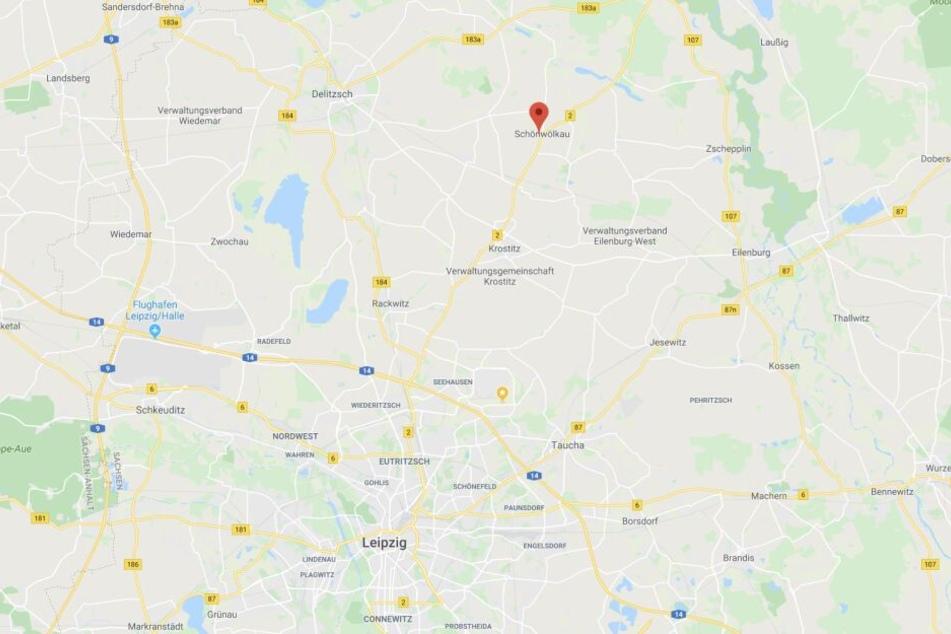 Der Unfall ereignete sich nahe Schönwölkau in Nordsachsen.