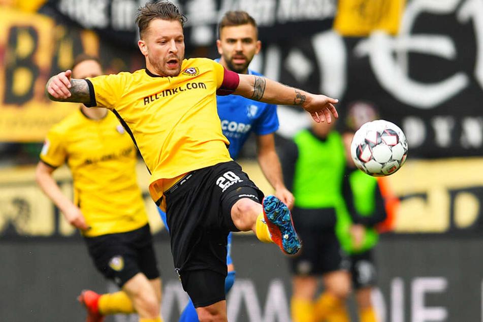 Patrick Ebert hat seine muskulären Probleme überwunden und wird die Schwarz-Gelben in Sandhausen wohl wieder als Kapitän auf den Rasen führen.