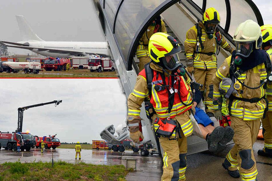 Am Flughafen Dresden: Flugzeug muss nach Testflug notlanden