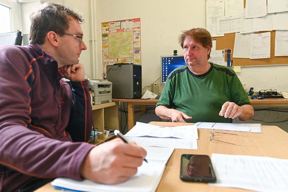 Der Schweißtechniker aus Freital schildert TAG24-Reporter Hermann Tydecks (36) den unglücklichen Verlauf seiner Geschichte.