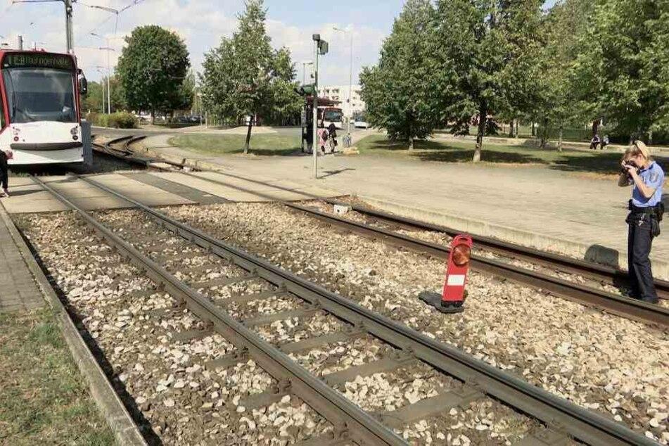 Die Polizei sicherte Spuren am Unfallort.