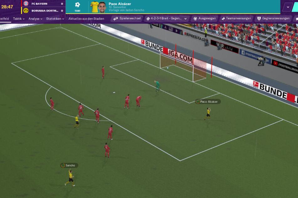 Die 3D-Animationen, sowie die Grafik insgesamt haben sich bei dem Manager-Spiel verbessert.