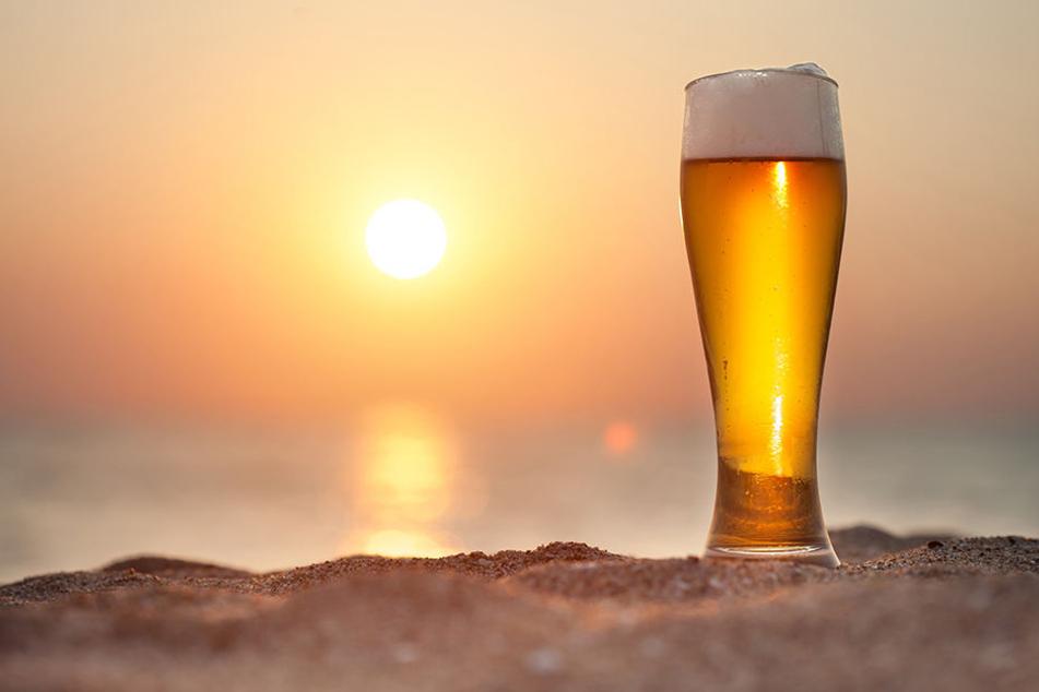 """Auf einem der Bilder des Mannes war ein Glas Bier abgebildet. Darunter schrieb er: """"Ein wenig Bier bevor die Bande kommt."""""""