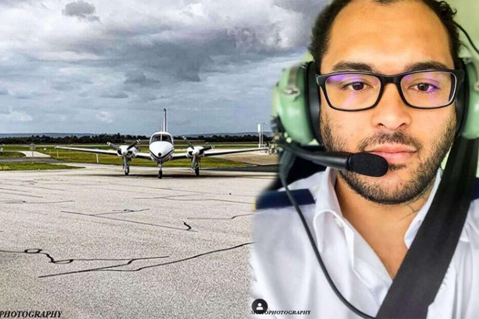 Flugschüler in der Luft, als plötzlich sein Lehrer ohnmächtig wird