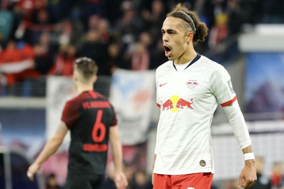 Yussuf Poulsen erzielte den zweiten Treffer gegen den Zweitligisten Osnabrück.