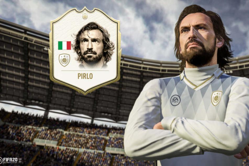 """Die italienische Fußball-Legende Andrea Pirlo bekommt in FIFA 20 Ultimate Team eine eigene """"Icon""""-Karte, die sehr selten und wertvoll sind."""