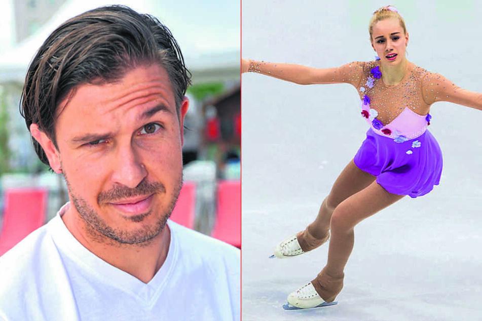 """Eiskunstläuferin Lutricia Bock (17) wird bei """"Star Dance"""" Walzer  tanzen. Auch Gastronom Henrik Bonesky (38) versucht sich auf dem Tanzparkett."""