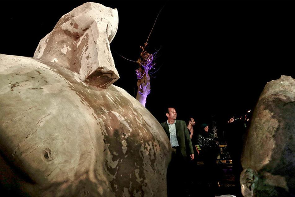 Doch nicht Ramses II.: Die Statue stellt wohl Pharao Psammetich I.  dar.