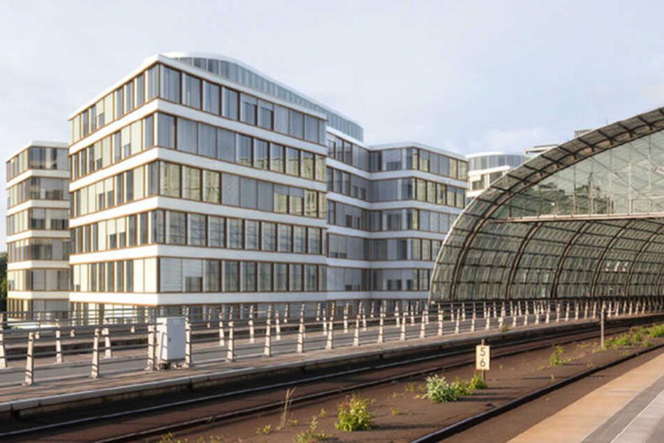 Das intelligente Gebäude entsteht neben dem Hauptbahnhof in Berlin.