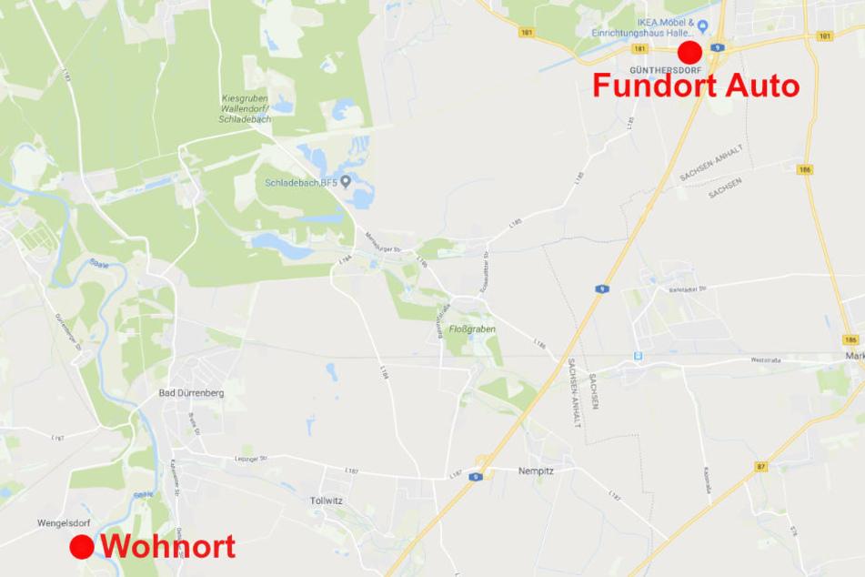 Der Wohnort des Vermissten und der Fundort seines Autos liegen rund 20 Kilometer auseinander. Aus unbekannten Gründen wurden die Kennzeichen an seinem Wagen ausgetauscht.