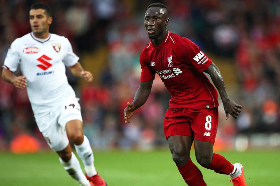 Liverpool-Spieler Naby Keita (r.) kommt unter Trainer Jürgen Klopp zwar oft zum Einsatz, durfte bislang aber nur sechs Mal über die kompletten 90 Minuten ran.